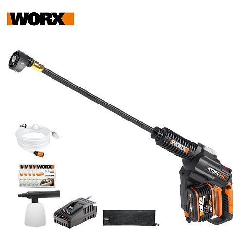 Worx 20V Brushless Hydroshot WG630E.5 Crodless Car Washer Rechargeable High Pressure High Flow Spray gun Portable Cleaner Washin