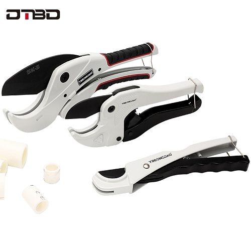 PVC Pipe Cutter 36mm 42mm 64mm Aluminum Alloy Body Ratchet Scissors Tube Cutter PVC/PU/PP/PE Hose Cutting Hand Tools