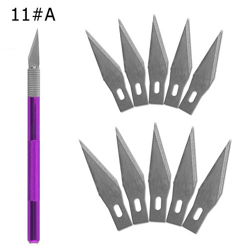 1 Knife Handle with 11 Blade Replacement 1#Mobile Phone PCB DIY Repair Hand Tools Surgical Scalpel Blade