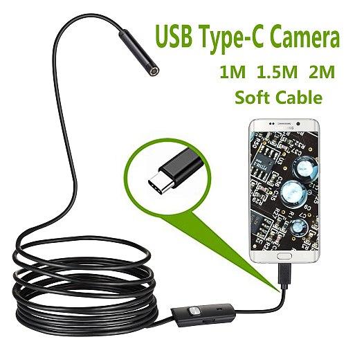 USB Snake Inspection Camera  IP67 Waterproof USB C Borescope Type-C Scope Camera for Samsung Galaxy S9/S8 Google Pixel Nexus 6p