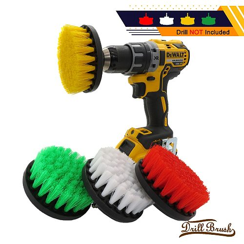 1pc 5 Inch Soft Plastic Drill Brush Attachment for Cleaning Carpet Leather and Upholstery Sofa Wooden Furniture