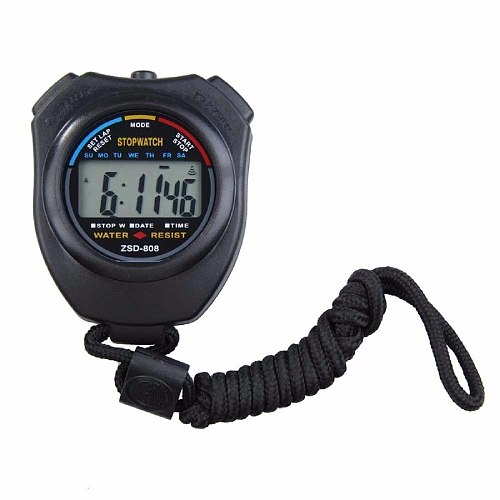Classic Waterproof Digital Professional Handheld LCD Handheld Sports Stopwatch Timer Stop Watch with String