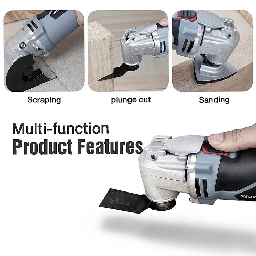 WORKPRO 250W Oscillating Multi Tool Multifunction Power Hand Tool Renovator Multi Tool Electric Cutter Home Improvement Tools