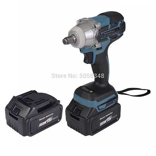 Brushless cordless electric Rechargeable Impact Wrench with two 18V 4.0Ah Lithium ion Battery