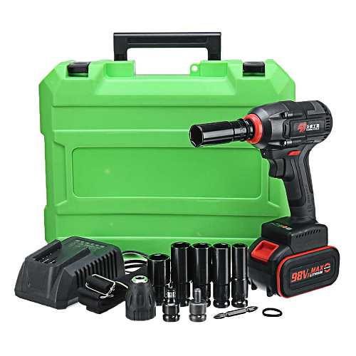 98V 16800 mAh Electric Impact Wrench Corded 360N.m Max Torque 2500r/min speed Impact nut wrench power tools