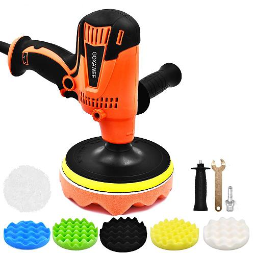 800W Electric Car Polisher Machine Adjustable Speed 3300rpm Auto Polishing Car Waxing Grinding Machine For Paint Care Tools
