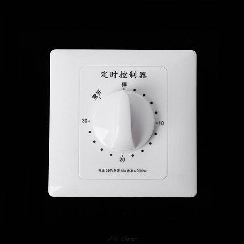AC 220V 30/60/120 Min Timer Switch Pump Mechanical Countdown Control Interruptor