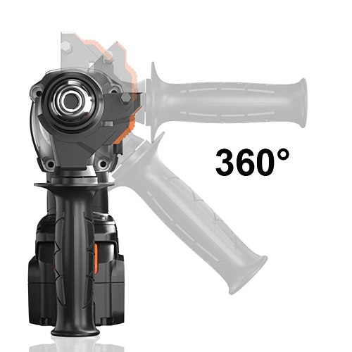 LOMVUM 21V Rushless Cordless Rotary Hammer  Cordless Electric Drill Electric Pick Brushless Motor for Switch Freely