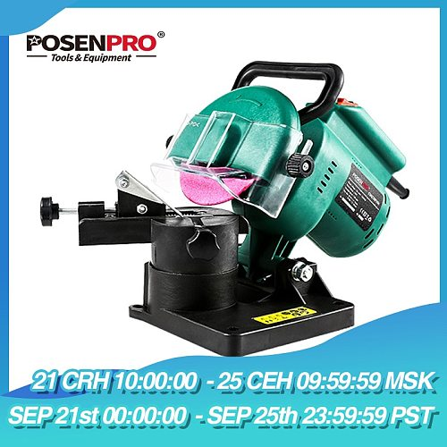 POSENPRO 220W 100mm 4  Inches Power Chain Saw Sharpener Grinder Machine Garden Tools Portable Electric Chainsaw Sharpener
