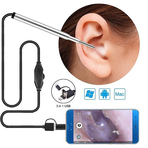 In-ear 3.9mm USB  Mini Medical Endoscope Camera Endoscope Inspection Camera for OTG Android Phone PC Ear Nose Borescope