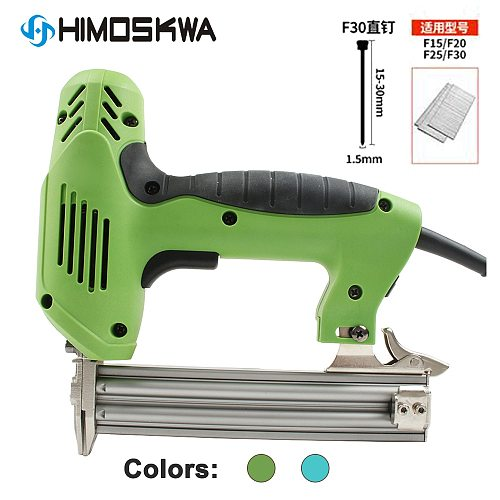 1800W Electric Nailer and Stapler Furniture Staple Gun for Frame with Staples & Nails Carpentry Woodworking Tools 220V