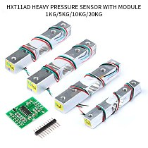 1KG 5KG 10KG 20KG Load Cell  HX711 AD Module Weight Sensor Electronic Scale Aluminum Alloy Weighing Pressure Sensor
