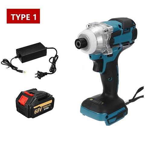 18V 520Nm Cordless Impact Wrench Brushless Electric Wrench 9000mAh Li Battery Hand Drill Installation Power Tools With LED