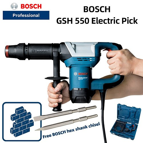 Bosch GSH500 Industrial Grade Electric Pick Chisel Hydroelectric Slotting High Power Hexagon Pick Electric Shovel Chisel