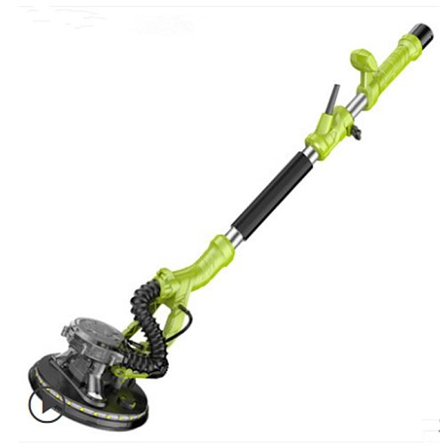 220V 810W 1.9m telescopic hand-held long pole wall grinding machine, disc sanding machine,self-priming dust collection,LED light