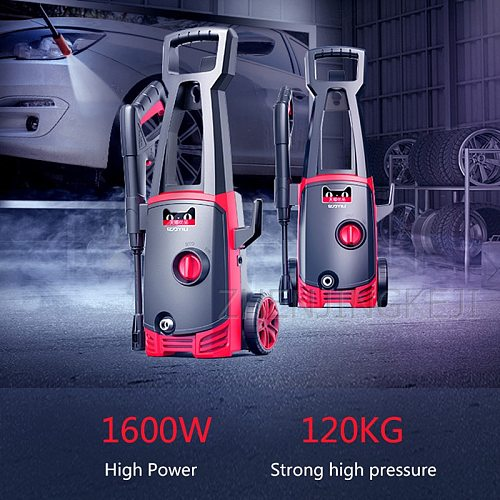 High Pressure Car Washer Home Use Automatic Car Wash Pump High-pressure Water Gun High Power 1400W Washing Machine Cleaning Tool