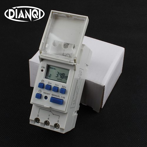Tp8a16 Timer switch din rail digital weekly programmable electronic microcomputer time switch 220V 110V 30A 12V bell ring relay