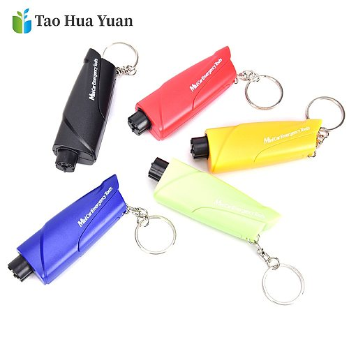 Hot Safety Hammer Car Hanging Accessories Ornaments Decoration Key Chain Knife Life Saving Seat Belt Cutter Break Window Glass A