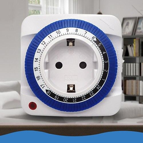 EU US Plug Timing Switch Energy Saving Mechanical Socket Protector Home Use 24 Hours intelligent Protector