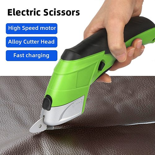 Portable Cordless Electric Scissors Handheld Cutter Electric Scissors Fabric Leather Cloth Cutting Chargeable Sewing