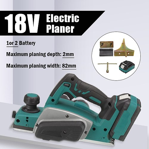 18V Electric Planer Industrial Grade Multifunctional Lithium Electric Planer Woodworking Press Portable Planer