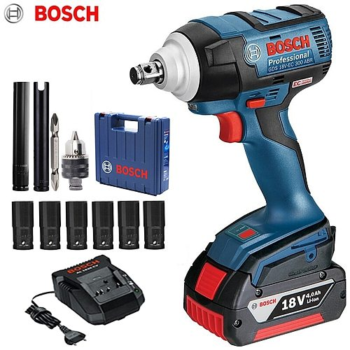 Bosch 18V Cordless Impact Wrench Lithium Battery Rechargeable Electric Wrench GDS 18V-EC 300 ABR 300N.m Brushless Impact Wrench