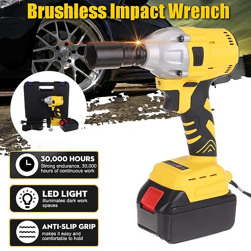 288VF 110-240V Cordless Electric Impact Wrench Electric Wrench Brush with 1x Li-ion Battery Power Tools