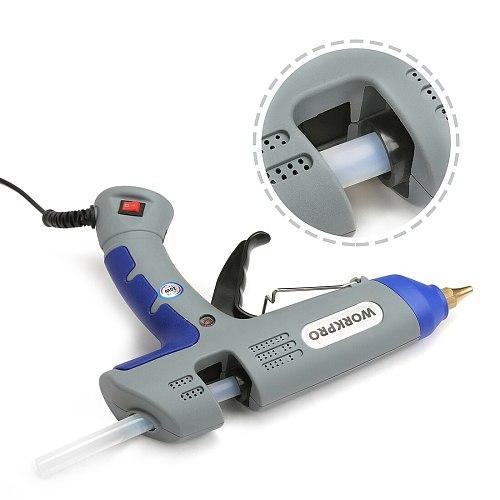 WORKPRO 30W Glue Gun DIY Tools High Temp Hot Melt Glue Gun with 20pcs Premium Glue Sticks for Crafts Use Christmas Decoration