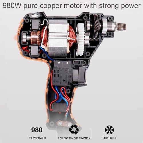 Electric Car Polisher Professional 980W Car Polishing Machine Six Gears Adjustable Speed Car Grinder Machine Polisher Power Tool