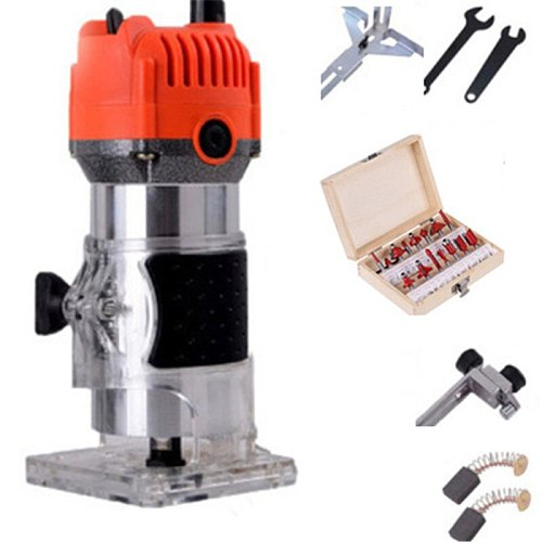 220V~50Hz Trimming Machine Woodworking Power Tool Wood Willing Engraving Multifunction Plotted Electromechanical Home Diy Tools
