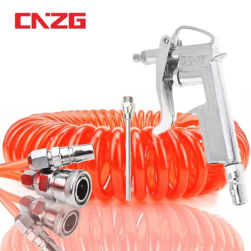 High Pressure Cleaning Spray Gun Air Blow Compressor Dust 1/4  Pneumatic Air Hose Spiral Tube Pipe Clean Car Duster Tools