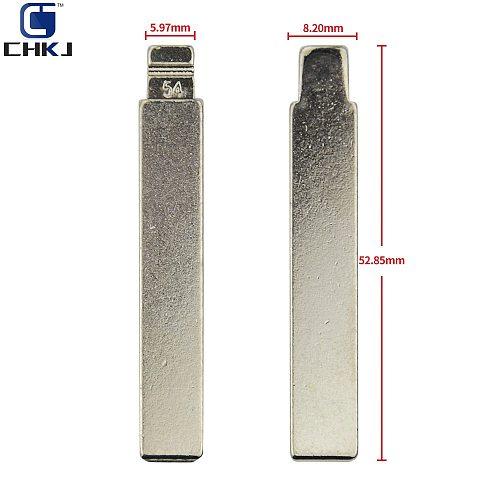 CHKJ 1PC No.54 HCA/HU83 Modified Key Blade Fit For Citroen For Peugeot 307 Flip Folding Car Key Blank 54# With Groove