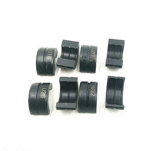 4pcs U mould 16, 20, 25, 32mm Pipe Crimping Tool Jaws CW-1632 hydraulic pressure pipe clamp mould