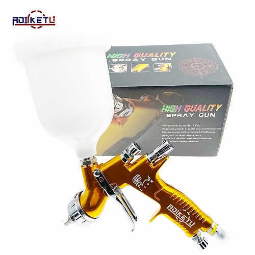 ROLKETU high quality professional GTI pro lite painting gun TE20/T110 1.3mm nozzle spray gun paint gun water based air spray gun