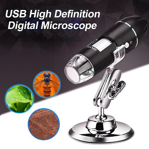 1080P WIFI Digital 1000x Microscope Magnifier Camera 8 LED With Stand for Android ios iPhone iPad Support