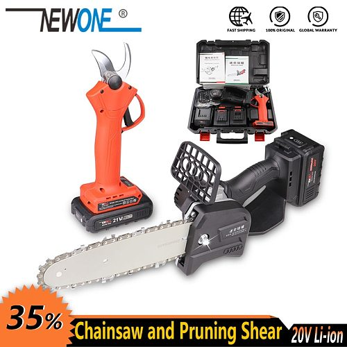 NEWONE Electric Power Tool Li-ion Cordless 800W Mini Chainsaw Portable lighter Chainsaw for cutting pruning with 2.0/4.0 Battery