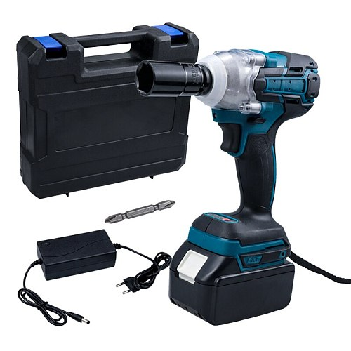 18V 520N.m Electric Wrench Brushless Impact Wrench Rechargeable 1/2'' Socket Cordless Wrench Impact Driver For Makita Battery