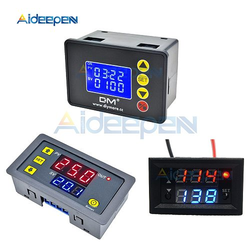 DC 12V 24V AC 110V 220V Digital Cycle Timer Delay Relay Board Module Microcomputer Time Controller Delay Relay Module Switch