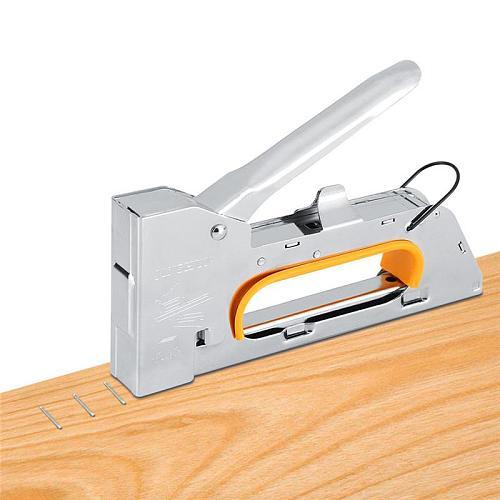 High quality 4/6 / 8MM heavy pistol gun furniture stapler for frame paper window  staples woodworking nail gun