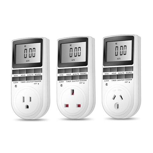 2019 new CE certified socket timer switch power timer digital plug microcomputer time switch 120V 220V 230V 240V EU UK AU US FR