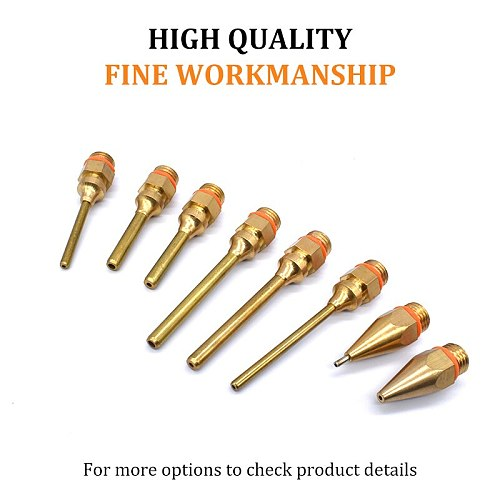 18Pcs/set Glue Gun Copper Nozzle Small-bore Long Short Large Diameter Hot melt glue gun accessories to send wrench / Gum Cover