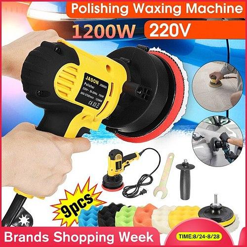 1200W 4500rpm Electric car polishing machine+Polisher pad Auto Polishing Machine Adjustable Speed Sanding Waxing Tools