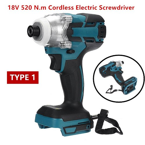 18V 520N.m/280 N.m Cordless Electric Impact Wrench Motor 1/2  Square Brushless Rechargeable Wrench LED Light For Makita Battery