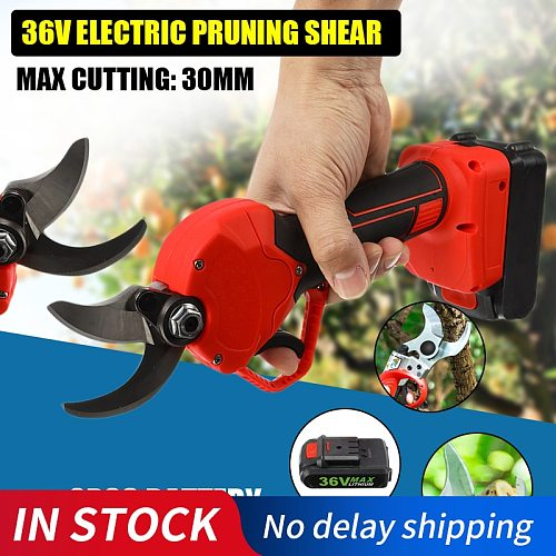 Electric Pruner Garden Tool Cordless Electric Pruning Shears Branch Cutter Grafting Tool Garden electric branch Scissors
