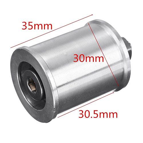 Aluminum Alloy 30mm DIY Mini Belt Sander Conveyor Driving Wheel For5/6/8/10mm Motor Spindle Belt Power Wheel DIY Abrasive Tool