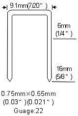 Long Nose Fine Wire Air Stapler Gun BEA type