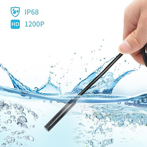 1200P HD Wifi Endoscope Camera USB IP68 Waterproof Borescope Soft cable Tube Wireless Video Inspection for Android/iOS