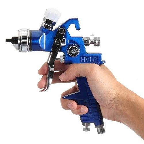 WENXING 1.4 1.7mm Professional HVLP Air Spray Gun Paint Sprayer 600ml Gravity Feed Airbrush Kit Car Furniture Painting Tool
