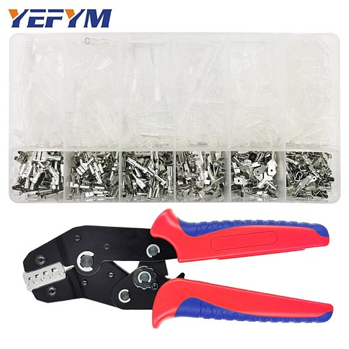 YEFYM SN-48BS crimping pliers 0.25-1.5mm2 23-16AWG with tab 2.8 4.8 6.3mm terminal box Car connector wire electrician tools