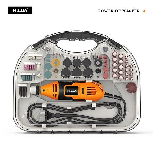 HILDA Electric Mini Drill Dremel Grinder Engraving Pen Mini Drill Electric Rotary Tool Grinding Machine Dremel Accessories